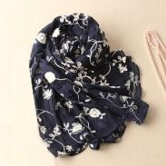 Bufanda del bordado del cordón del algodón de la calidad estupenda