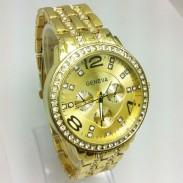 Reloj de cuarzo de acero Rhinestone para empresas