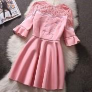 Vestido de flor de lujo soluble en agua de costura de algodón espacio