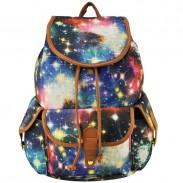 Fresco Fanático Galaxia Brillante Estrella con cordón Aldaba viajar Mochila Bolsa para la escuela Universidad Cartera