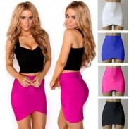 Faldas apretadas de las correas cruzadas de gama alta atractivas del verano