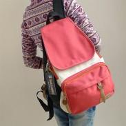 Fresco colorido de ocio mochilas de lona