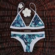Bikini de bikini estampado sexy push-up triángulo conjunto de trajes de baño para mujer