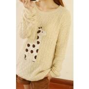 Sweet Style Cute Fawn Sleeve Sweater&Cardigan