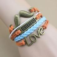 Bestfriend Love Beard Infinity  Hand-woven Bracelet