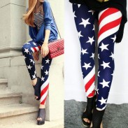 Vintage Sexy Stretch US American Flag Tights  Leggings