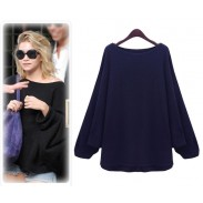 Fashion New Style  Bat Sleeve Irregular Wool Sweater&Cardigan
