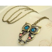 Vintage Fashion Cute Animal Owl Sweater Necklace