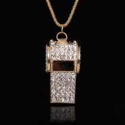 Unique Sweet Rhinestone Whistle Necklace