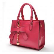 Nuevo bolso de hombro de la vendimia del Bowknot esmerilado bolso