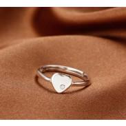 Creativo Libra esterlina Plata Eterno Amor Diamante de imitación anillo