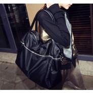 Negro bolsa de cremallera de la manera del mensajero del bolso