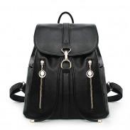 Ocio Viaje mochila de cuero suave cremallera Mujer compras mochilas