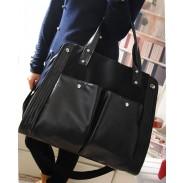 La bolsa pura de la vendimia del color del hombro bolso de lona