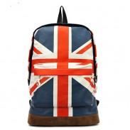 La bolsa de lona de la manera de la escuela británica de la bandera de mochila