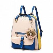 Contraste de color de moda de muy buen gusto mochila escolar