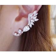 Brillante Diamante de imitación Ángel Alas Semental Pendiente