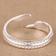 Moda Pluma 925 Libra esterlina Plata anillo