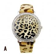 Sexy estampado de leopardo reloj