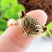Tallado Tribal zorro animales anillo Abierto Ajustable Hembra anillo