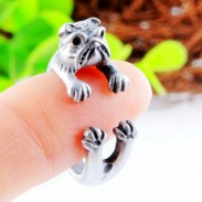 Sabueso Perro Aleación animales Apertura anillo