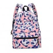 Bolso de escuela lindo de la mochila de la cabeza de la panda de la historieta bolsas de viaje