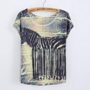 Gracioso Código de barras Impreso Camiseta