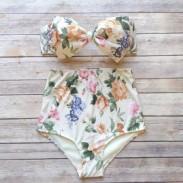 Traje de baño de arco sexy Bikinis de cintura alta Push Up Bikini