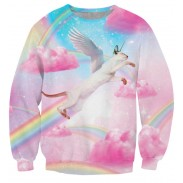 Nuevas camisetas rosadas de la impresión del arco iris de las nubes rosadas