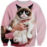 Nueva Moda Grumpy Cat 3D Impresión Digital Sudaderas