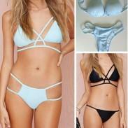 Traje de baño sexy triángulo ahueca hacia fuera el traje de baño conjunto de bikini