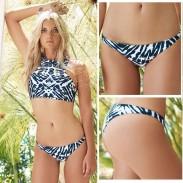 Relámpago Grano Impresión Bikini Triángulo Traje de baño Baños Trajes Trajes de baño