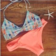 Original Aves Impresión Sexy Bikini Set traje de baño push-up Beach trajes de baño para mujer