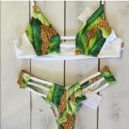 Traje de baño atractivo del bikini del vendaje de la impresión de la piña
