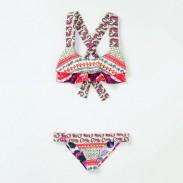Traje de baño geométrico Split Bikini Set Beach trajes de baño para mujer