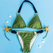 Cabestro Bikini Conjunto Trajes de baño playa Traje de baño Traje de baño para niña