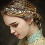 Exquisita flor fresca rama nupcial dama de honor boda horquilla accesorios para el cabello