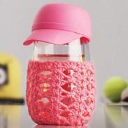 Sombrero creativo lindo hecho punto prendas de vestir transparentes Copa de vidrio transparente