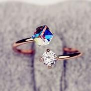 Vistoso Circón Diamante de imitación Apertura anillo