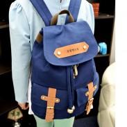 Estilo retro de la universidad linda lienzo mochilas Mochila