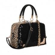 La bolsa de hombro de la manera del leopardo de las lentejuelas bolso elegante