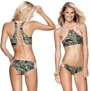 Bikini Impreso Totem Gráficos Irregulares
