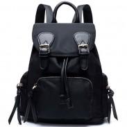 Correas de empalme de la niña única mochila de color resistente al agua estudiante mochila Oxford escuela