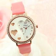 Lover Rhinestone Trim Sweet Crystal Watches