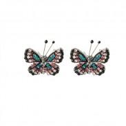 Fresco Mariposa dama Pendientes Lindo diamante Mariposa Animal Stud Pendientes