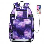 Guay Estrellado Cielo Nebulosa Oxford grande resistente al agua espacial Galaxia Bolso de la escuela secundaria Mochila de viaje