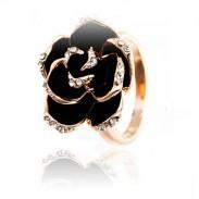 Retro Palacio Rosa Abierto anillo