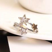 Moda Diamante de imitación Meteorito Ducha anillos