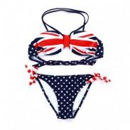 Bandera británica atractivo caliente del traje de baño Bikinis
