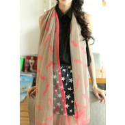 Lovely Cute Funny  Mustache Infinity Scarf